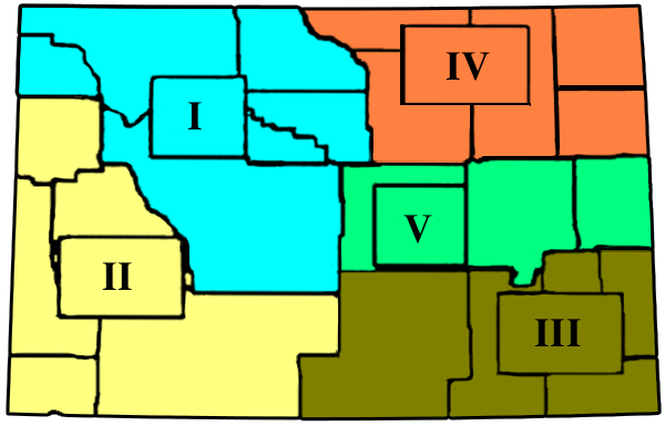 Wyoming Areas Map